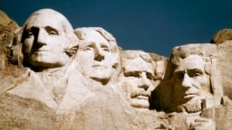 FILE - In this undated file photo, Mount Rushmore is shown in South Dakota. From left are George Washington, Thomas Jefferson, Teddy Roosevelt and Abraham Lincoln.