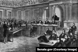 Andrew Johnson's impeachment trial in the U.S. Senate