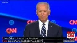 ڈیموکریٹک صدارتی مباحثے میں جو بائیڈن کا پلڑا بھاری