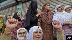 په کشمیر کې د هند او پاکستان د موافقې پر ضد مظاهره