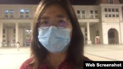 上海維權人士、公民記者張展。 (張展推特視頻截圖)