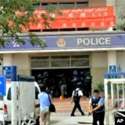 شنجیانگ میں ایک حملے کے بعد کا منظر