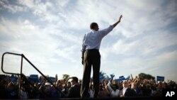 4일 미국 플로리다주 헐리우드에서 유세 중인 바락 오바마 대통령.