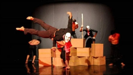 """Dramatic scene from a play called """"Sokha"""" currently showing in Siem Reap, Cambodia."""