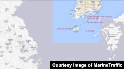 지난해 8월 28일부터 9월 5일 사이 '피 파이어니어 ' 호의 항적. 일주일 간 선박자동식별장치(AIS) 신호가 잡히지 않았다. MarineTraffic 제공.