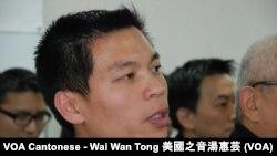 香港獨立評論員協會召集人呂秉權表示,協會的成立沒有對抗意味 (美國之音湯惠芸)