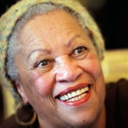 American novelist Toni Morrison after being awarded the Legion of Honor in Paris in November