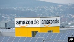 FILE - A distribution center of the online retailer Amazon is seen in Bad Hersfeld, Germany.