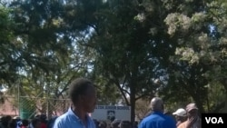 Some of the pensioners seen Tuesday in Bulawayo. (Photo: Taurai Shava)