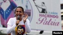 """María Corina Machado Machado reiteró que """"noha habido en nuestra historia acto que tenga mayor fuerza, legitimidad y que sea vinculante"""" como es la consulta popular del domingo."""