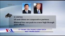 TT Trump tôn trọng chính sách 'một Trung Quốc'