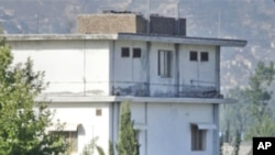 Osama bin Laden compound in Pakistan that was raided by US troops