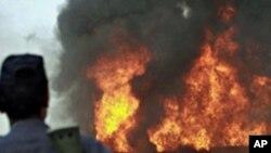 تانکر دیگر ناتو در شمال غرب پاکستان مورد حمله قرار گرفت