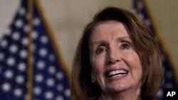Kiongozi wa walio wachache katika Bunge la Marekani, Nancy Pelosi.
