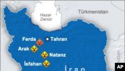 이란의 핵 시설 분포 지도