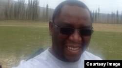 Mthokozisi Ndlovu, a Zimbabwean living in Canada, affected by a raging inferno. (Photo: Courtesy Image)