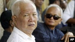 This week, victims of the Khmer Rouge who have filed grievances with the court will testify against two defendants still on trial—ideologue Nuon Chea and head of state Khieu Samphan.