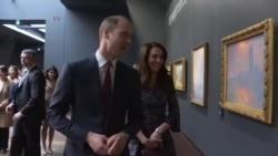 英国威廉王子与凯特王妃访问巴黎