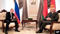 Встреча в Могилеве Владимира Путина и Александра Лукашенко