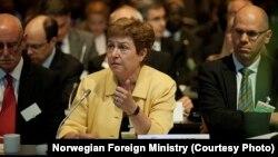 Komisioner Eropa Kristalina Georgieva berbicara dalam konferensi mengenai Sudan Selatan. (Foto: Dok)