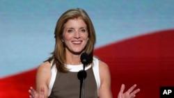 美国前总统约翰•肯尼迪的女儿卡罗琳.肯尼迪去年9月在民主党全国代表大会上