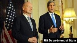 Госсекретарь США Джон Керри и глава британской дипломатии Уильям Хейг