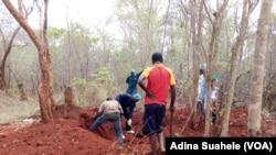 Exumação de corpos em Murrupula