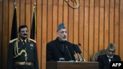 Avganistanski predsednik Hamid Karzai govori u parlamentu, 26. januar, 2011.