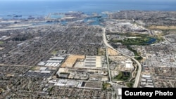 Counties can be large or small. Los Angles county oversees the Los Angeles County Sanitation Districts' Joint Water Pollution Control Plant (center) in Carson, CA, with the Ports of L.A. and Long Beach.