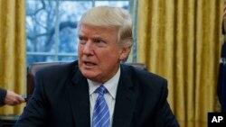 Presiden AS Donald Trump di Gedung Putih, Washington DC (foto: dok).