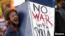 Wani yana nuna adawa da kaiwa Syria yaki
