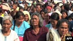 Біженці з району кордону між Таїландом і Камбоджею