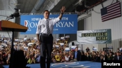Ứng cử viên tổng thống của đảng Cộng hòa Mitt Romney vận động tranh cử tại Cedar Rapids, Iowa, ngày 24/10/2012