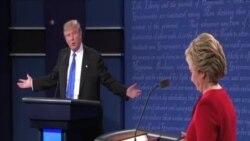美國總統候選人相互批評對方辯論中的表現