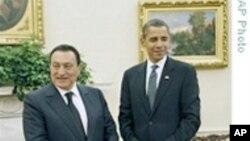 奥巴马白宫会见埃及总统穆巴拉克