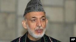 阿富汗總統卡爾扎伊(資料照片)