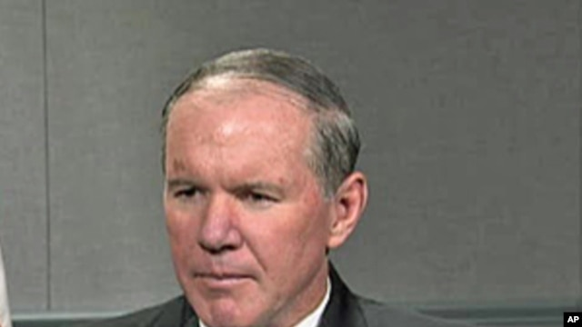 Admiral Mark Fitzgerald during his VOA interview, 21 Apr 2010