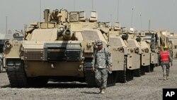 Американские танки в Багдаде. Сентябрь 2011г.