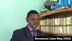 Denis Nkemlemo, Secretaire général adjoint du SDF au Cameroun, le 16 avril 2018. (VOA/Emmanuel Jules Ntap)