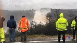 2017-02-13 美國之音視頻新聞: 加州水壩損壞當局緊急疏散居民