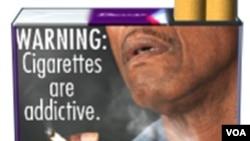 Foto peringatan dampak buruk merokok pada bungkus rokok di Amerika (Foto: ilustrasi).