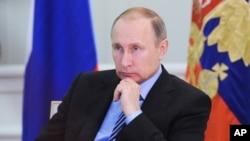 Tổng thống Nga Vladimir Putin tại điện Kremlin.