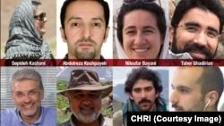 Иранские граждане, попавшие под суд в Тегеране по подозрению в шпионаже (архивное фото)