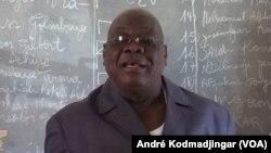 Gounoug Vaïma Ganfaré, secrétaire-général de l'UST, à N'Djamena, le 31 mars 2019. (VOA/André Kodmadjingar)