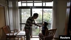 一对日本老人。
