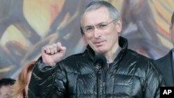 Михаил Ходорковский на Майдане. 9 марта 2014г.