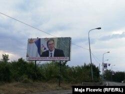 Bilbordi se nalaze na svim lokacijama na kojim će Vučić boraviti na Kosovu