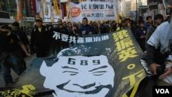 香港元旦「倒梁」遊行警方深夜拘捕示威者