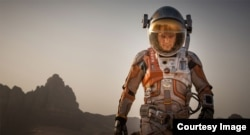 "Actor Matt Damon stars in ""The Martian."""
