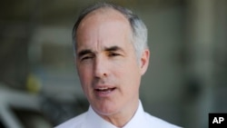 FILE - U.S. Sen. Bob Casey, D-Pa., was one of two senators Tuesday to announce support for the nuclear agreement with Iran.